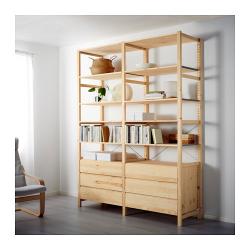 IVAR 2 secciones/estantes/cómoda