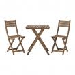 ASKHOLMEN Mesa y dos sillas