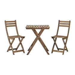 ASKHOLMEN Mesa y 2 sillas