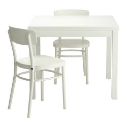 BJURSTA Mesa y dos sillas