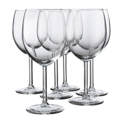 SVALKA Set of 6 glass cups for red wine, 10oz