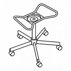 SNILLE Estructura silla, giratoria