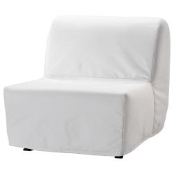 1 x LYCKSELE Funda para sillón cama, RANSTA blanco