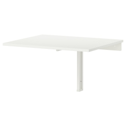 1 x NORBERG Mesa abatible de pared 74x60 cm blanco