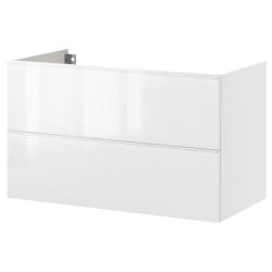 GODMORGON Armario lavabo 2 cajones 80 blanco
