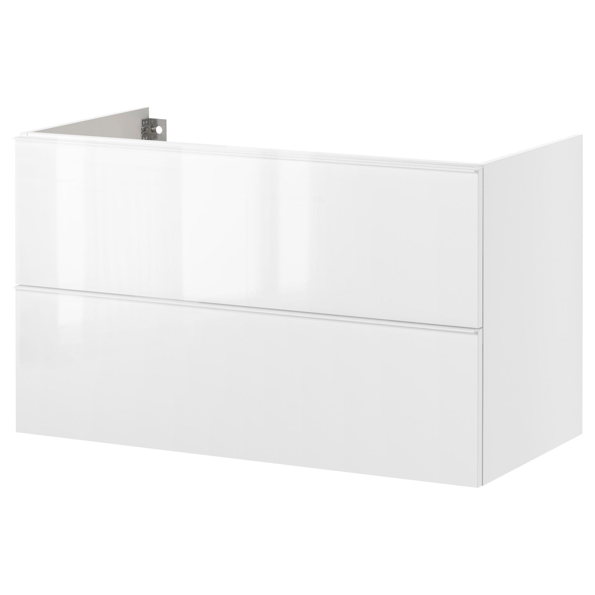 Godmorgon armario lavabo 2 cajones 80 blanco - Armario lavabo ikea ...