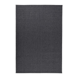 MORUM Alfombra, lisa 200x300 gris osc