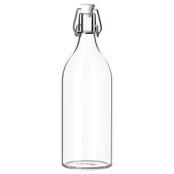 KORKEN Botella vidrio incoloro con tapón
