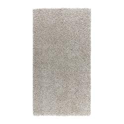 ALHEDE Alfombra, pelo largo 80x150 hueso