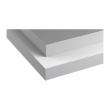 HÄLLESTAD Encimera, 2 lados, blanco, efecto aluminio con borde efecto metal