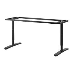 2 x BEKANT Estructura para tablero escritorio 160x80 cm negro