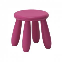MAMMUT Taburete para niños rosa oscuro