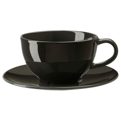 VARDAGEN Taza/plato para té, 9 oz