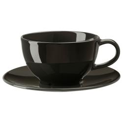 VARDAGEN Taza de té con plato