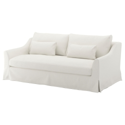 1 x FÄRLÖV Funda sofá 3 plazas FLODAFORS blanco