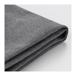 1 x EKTORP Funda sofá de 2 plazas, NORDVALLA gris oscuro