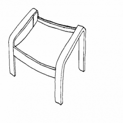POÄNG Estructura de reposapiés blanco