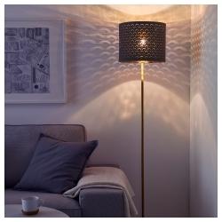 NYMÖ Pantalla para lámpara negro/bronce 32 cm