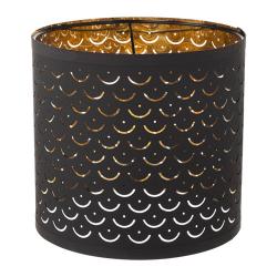 NYMÖ Pantalla para lámpara negro/bronce 24 cm
