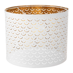 NYMÖ Pantalla para lámpara blanco/bronce 32 cm