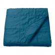 GULVED Colcha cama individual 160x250 cm azul oscuro
