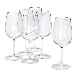 STORSINT Juego de 6 copas de vino, cristalino, 49cl