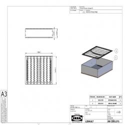1 x LIDHULT Estructura módulo final almacenaje