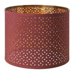 NYMÖ Pantalla para lámpara rojo oscuro/bronce 32 cm