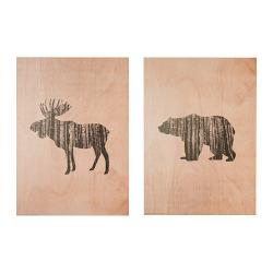 LOKABRUNN Impresión en madera