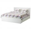 MALM Estruc cama 140 + somier Luröy + 4caj