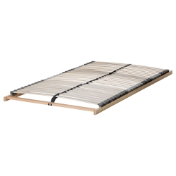 ASKVOLL Full bed, frame with LÖNSET reinforced slatted bed base