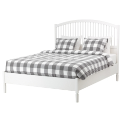 TYSSEDAL Queen bed, frame and LURÖY slatted bed base