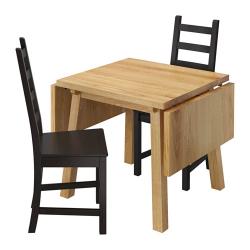 MÖCKELBY Mesa y dos sillas