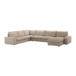 KIVIK Sofá 6 plazas con diván, HILLARED beige
