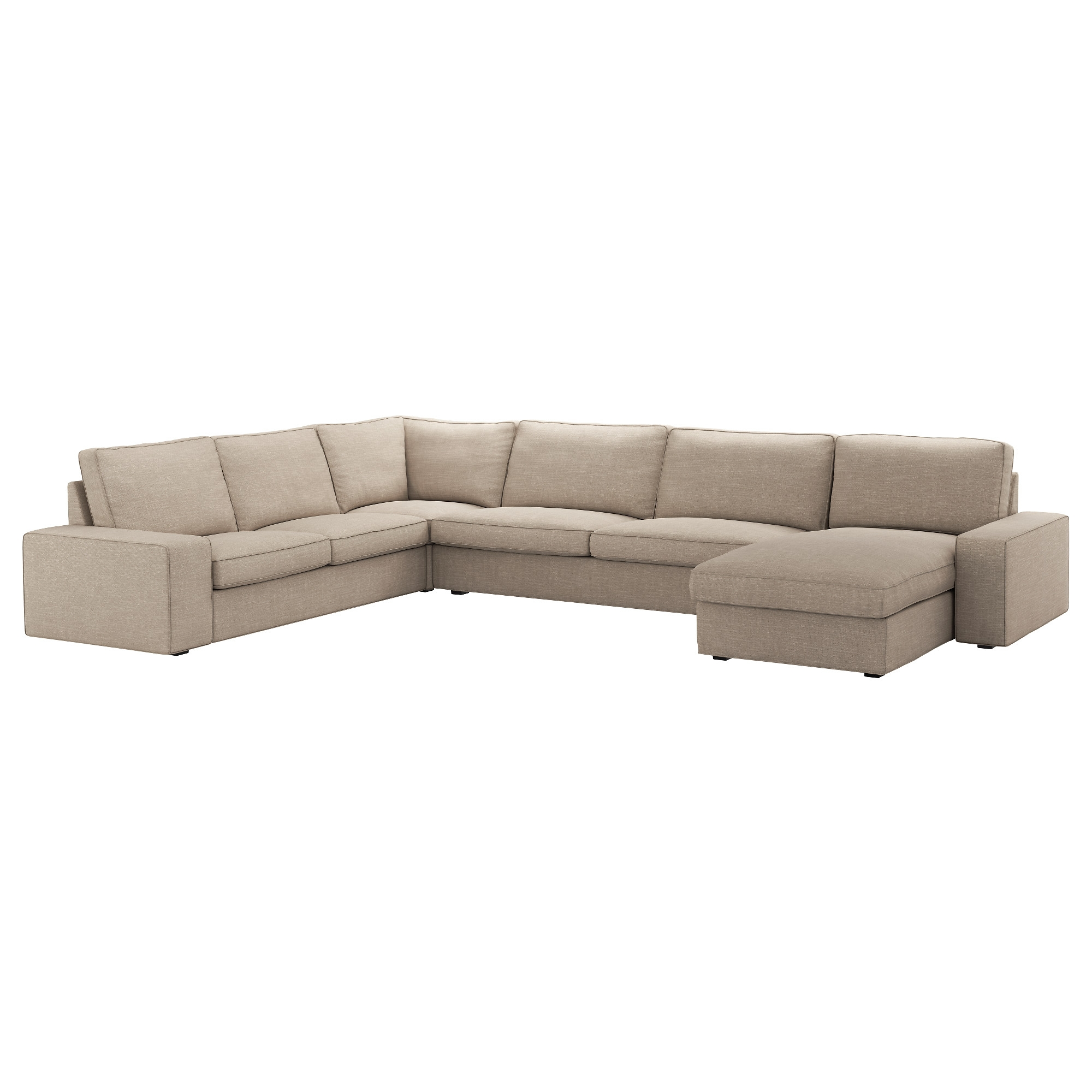 Kivik Sofa 6 Seats With Chaise Longue With Hillared Beige Cover
