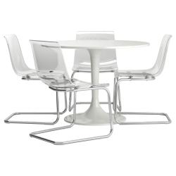 DOCKSTA/TOBIAS Mesa con 4 sillas
