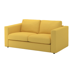 VIMLE Sofá 2 plazas, ORRSTA dorado