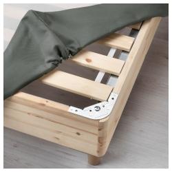 ESPEVÄR Base para colchón 160 con patas BJORLI 20cm, funda gris