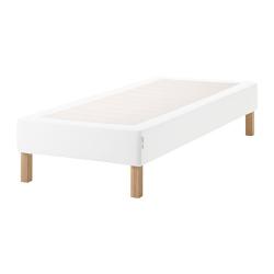 ESPEVÄR Base para colchón 90 con patas BURFJORD 20cm, funda blanca