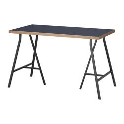 LINNMON/LERBERG Mesa de escritorio 120x60 cm azul/gris