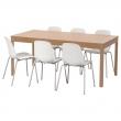 EKEDALEN/LEIFARNE Mesa y 6 sillas