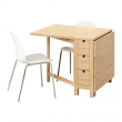 NORDEN/LEIFARNE Mesa y 2 sillas