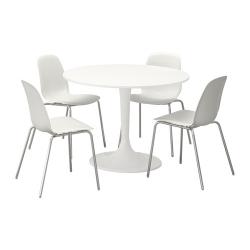 DOCKSTA/LEIFARNE Mesa con 4 sillas