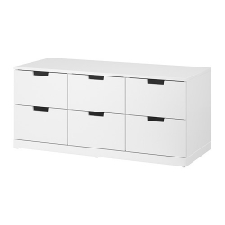 NORDLI Chest of 6 drawers