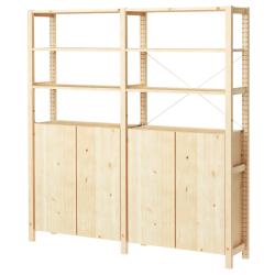IVAR Estructura almacenaje 174x30x179 cm con armarios y estantes