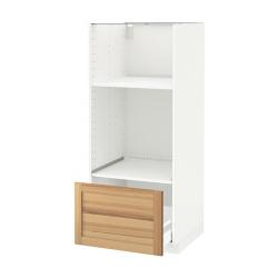 METOD/MAXIMERA Armario alto horno microondas cajón