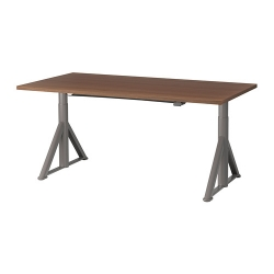 IDÅSEN Escritorio profesional sentado/de pie 160x80 cm marrón/gris