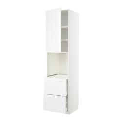 METOD/MAXIMERA Armario alto horno puerta y cajones