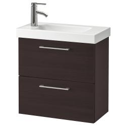 GODMORGON/HAGAVIKEN Armario lavabo 2 cajones