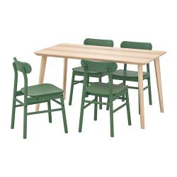 LISABO/RÖNNINGE Mesa con 4 sillas